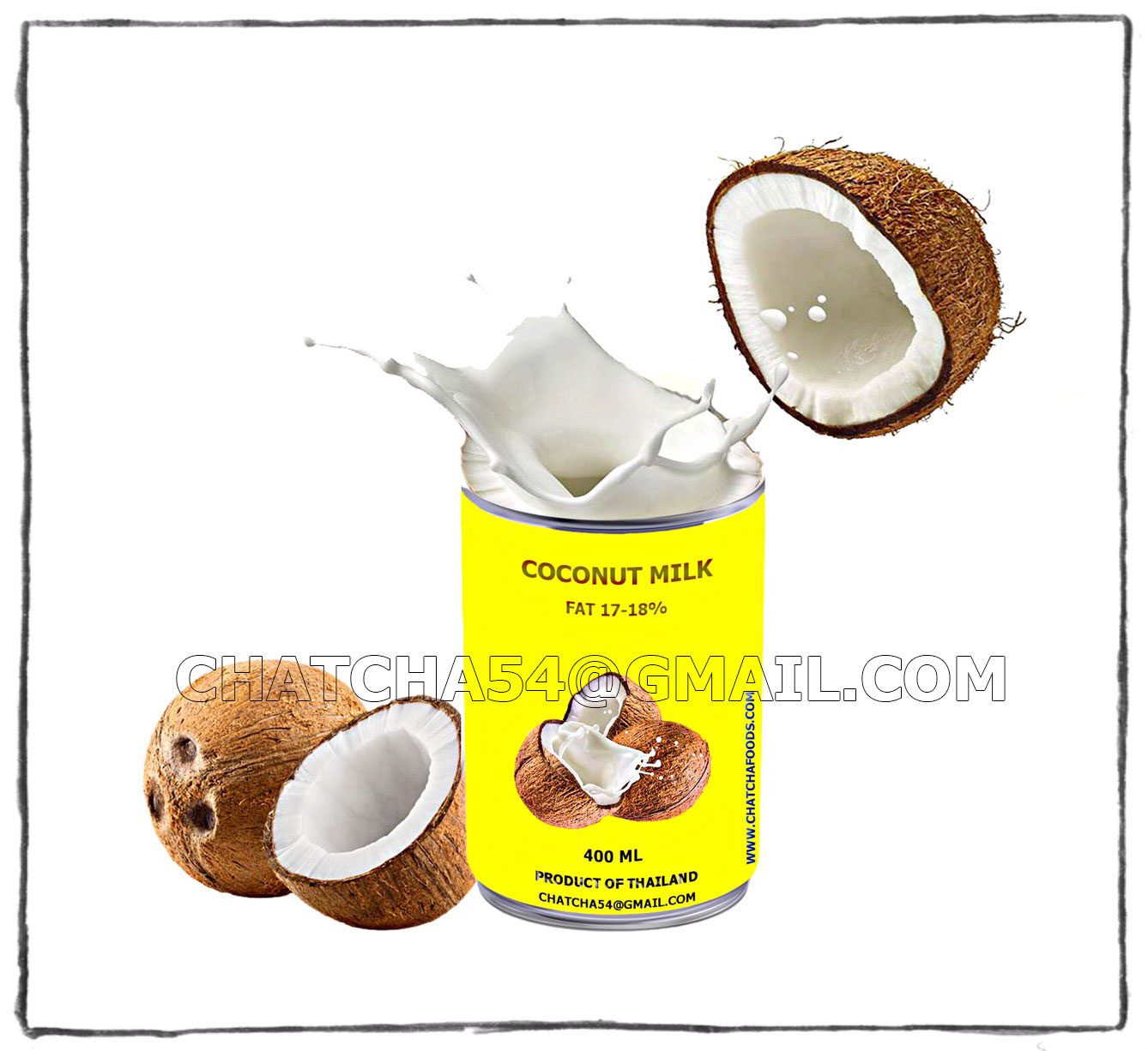 CANNED COCONUT MILK/CREAM