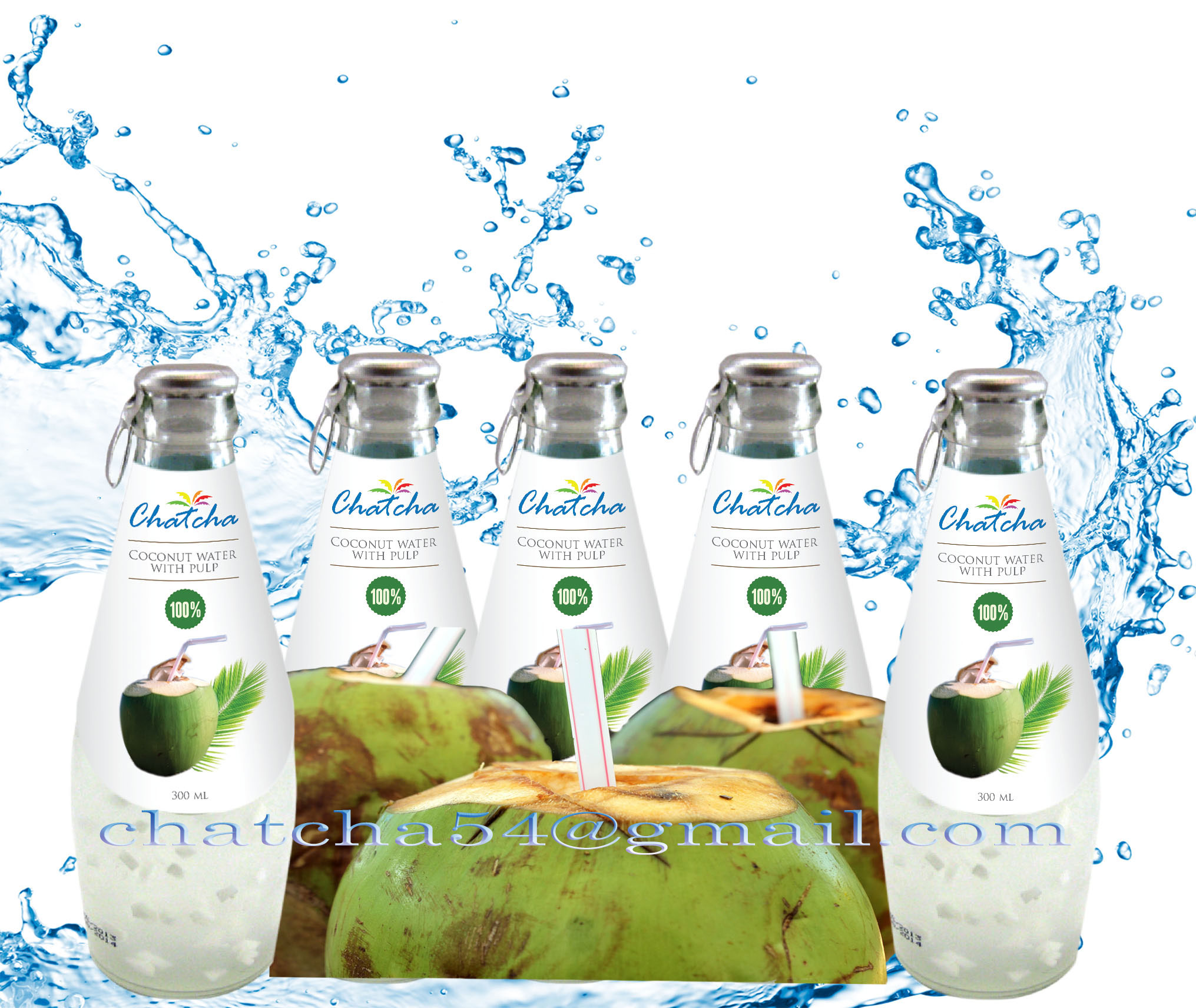 100% coconut water with pulp